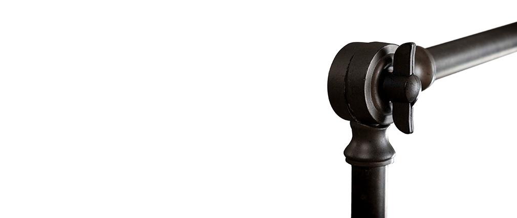 Lampadaire industriel en métal anthracite BUCKET