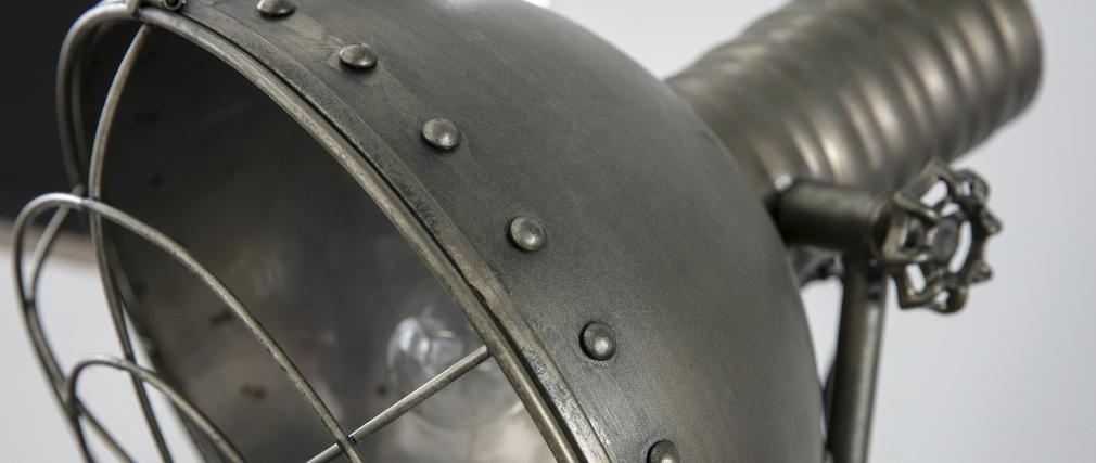 Lampadaire métal anthracite vieilli industriel FACTORY