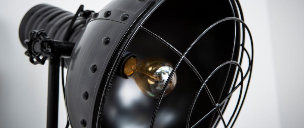 Lampadaire métal noir industriel FACTORY