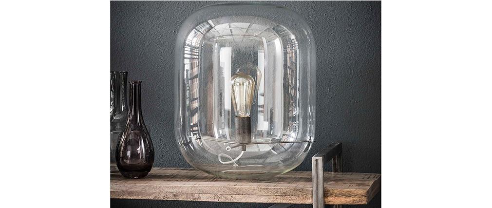 Lampe à poser avec dôme en verre D35 cm ANCY