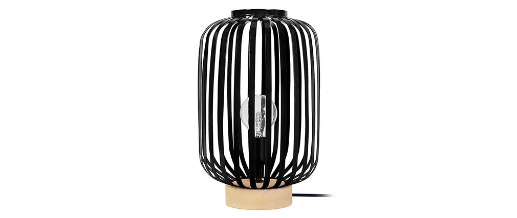 Lampe à poser design acier noir ALVEOL