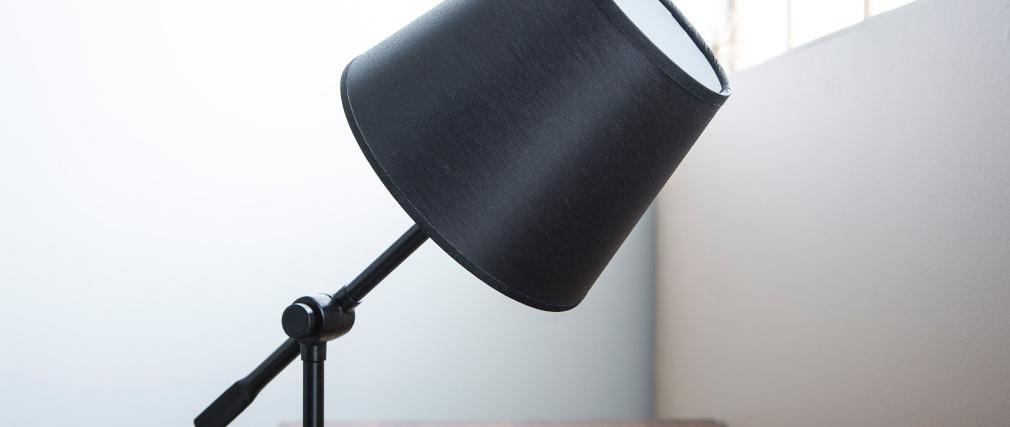 Lampe à poser design articulée acier noir LUCIO