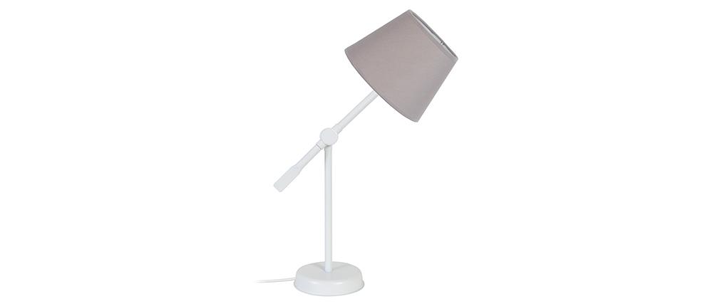 Lampe à poser design articulée acier taupe LUCIO