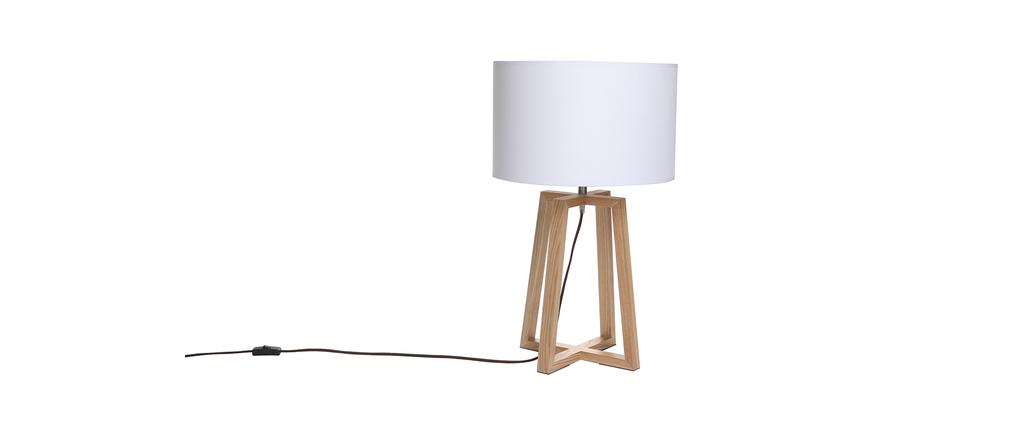 lampe poser design blanc norda miliboo. Black Bedroom Furniture Sets. Home Design Ideas