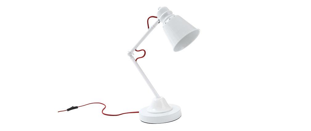Lampe poser design blanche avak miliboo for Lampe a poser blanche