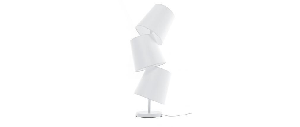 lampe poser design blanche baya miliboo. Black Bedroom Furniture Sets. Home Design Ideas