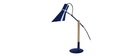 Lampe à poser design bois et acier bleu SOUND