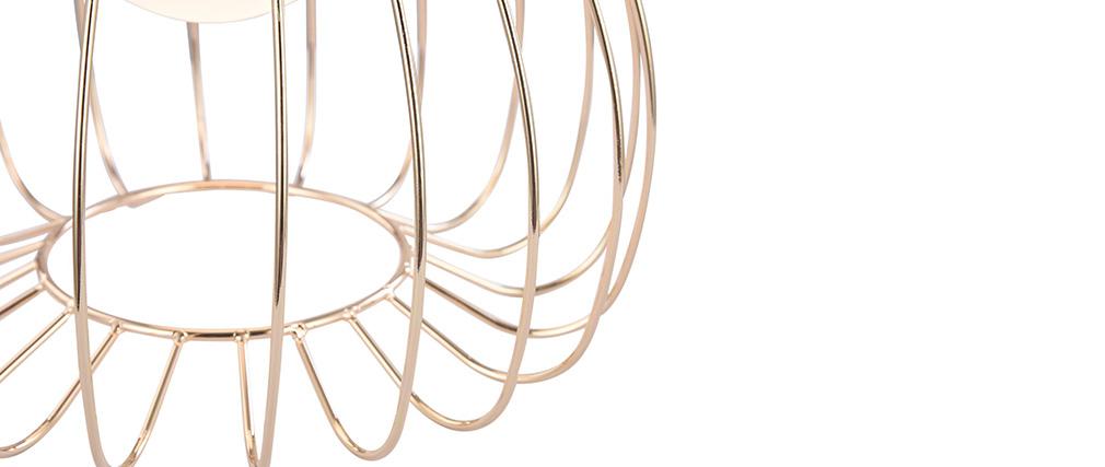 Lampe à poser design en métal doré POLLY