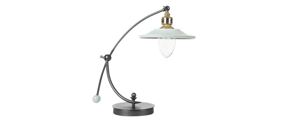 Lampe à poser design métal blanc MARVIN