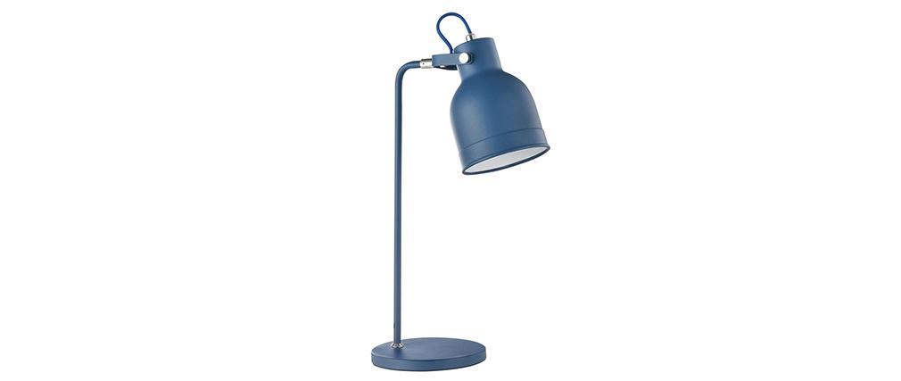 Lampe à poser design métal bleu PHOENIX