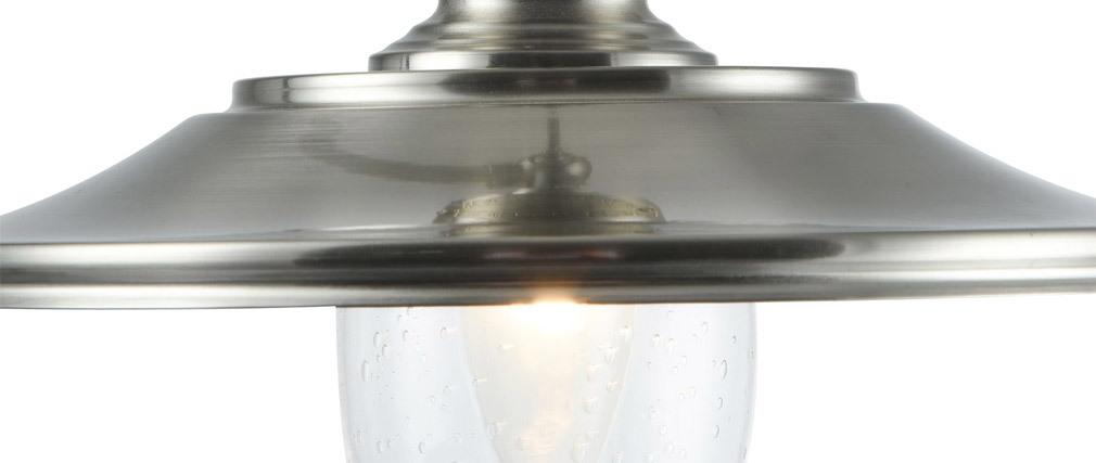 Lampe à poser design métal nickel MARVIN