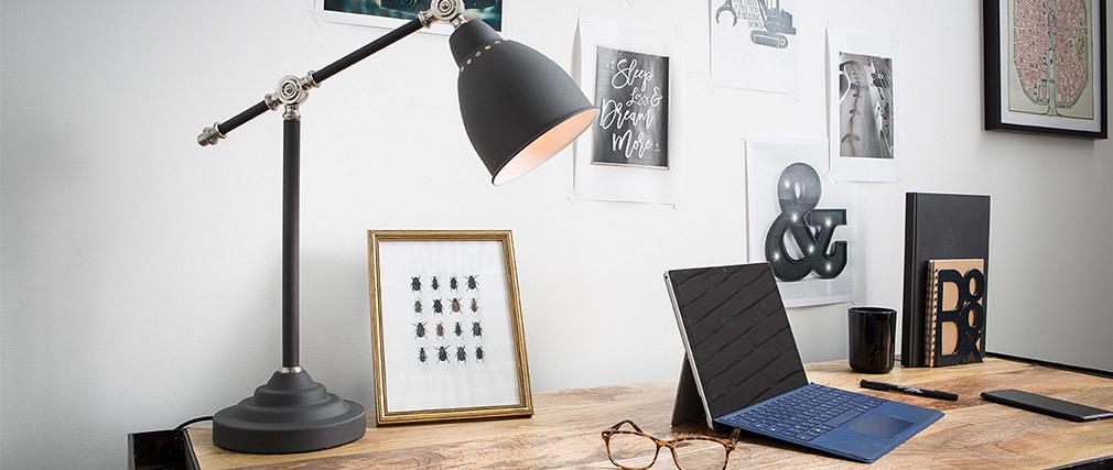 Lampe à poser design métal noir PROJECT