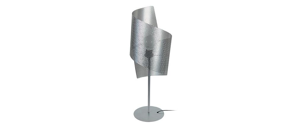Lampe à poser design perforée CLOVER