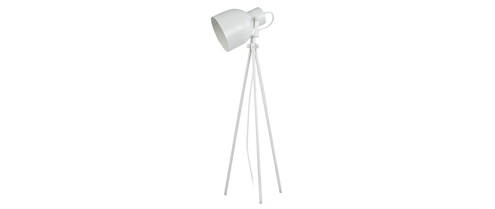 Lampe à poser design trépied acier blanc CITY