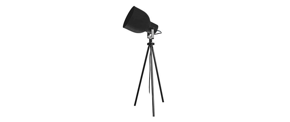 Lampe à poser design trépied acier noir CITY