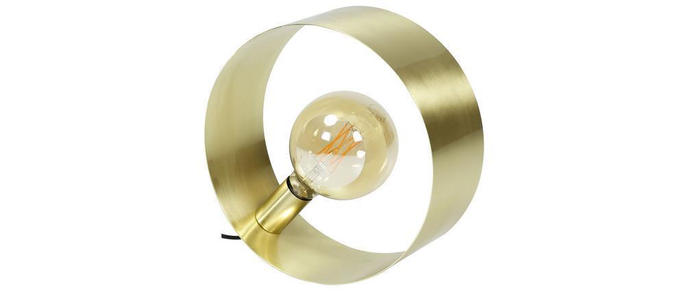 Lampe à poser H30 cm métal brossé doré ORIA