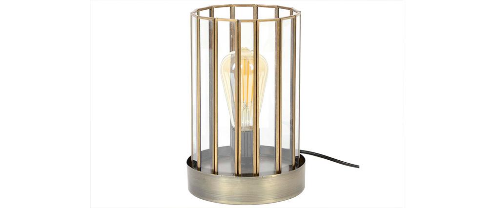 Lampe à poser industrielle en métal bronze CANOPY
