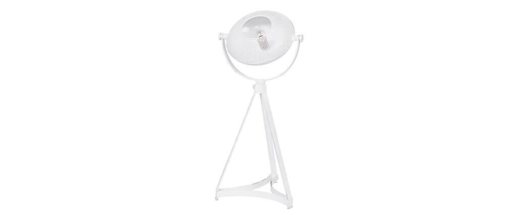 Lampe à poser industrielle métal blanc BLOUM