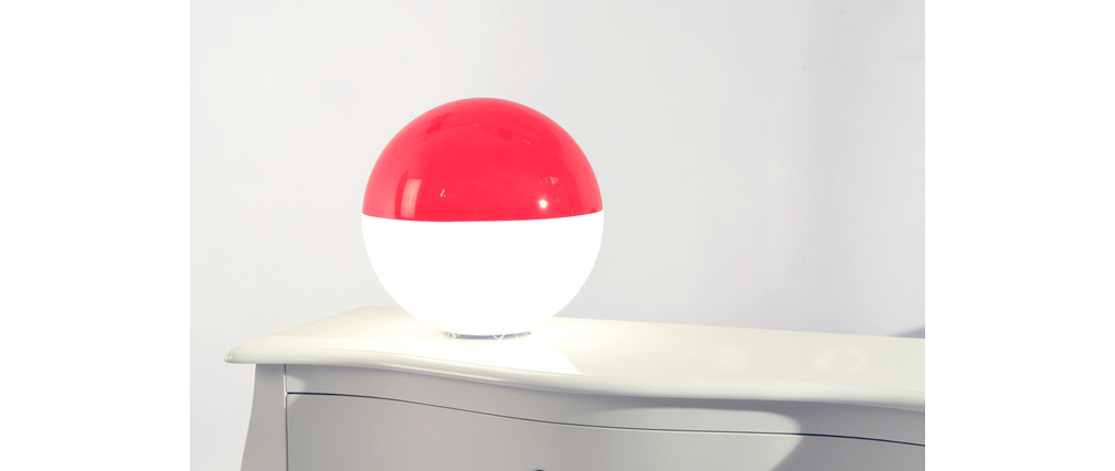 Lampe à poser moderne rouge Boréal