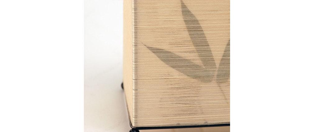 Lampe poser rectangulaire guilin feuille de bambou for Lampe a poser rectangulaire