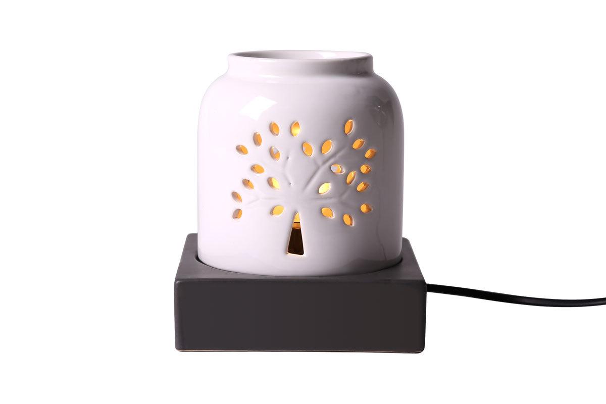 lampe diffuseur de parfum design c ramique blanc forest. Black Bedroom Furniture Sets. Home Design Ideas