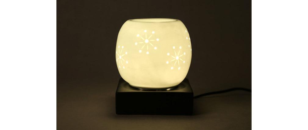lampe diffuseur de parfum design porcelaine et gr s blanc astre miliboo. Black Bedroom Furniture Sets. Home Design Ideas