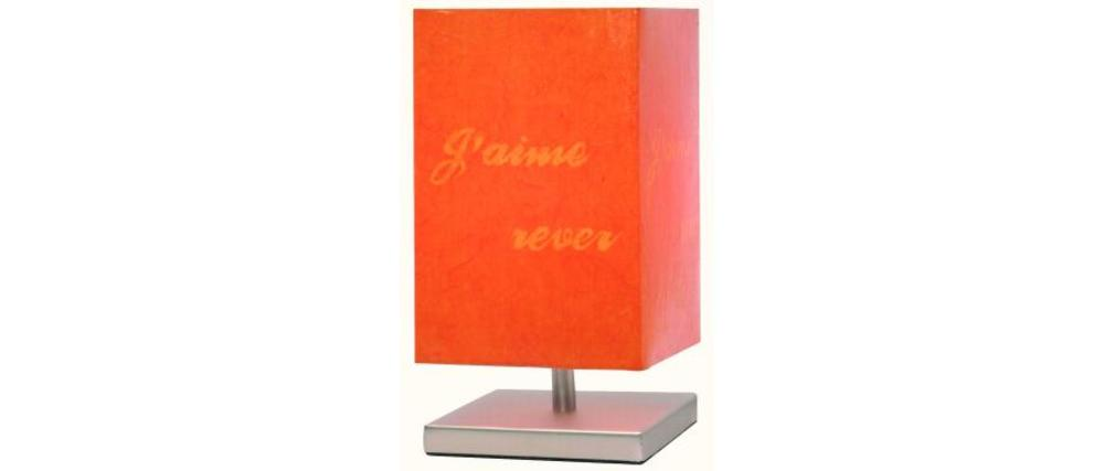 lampe tactile orange moderne message miliboo. Black Bedroom Furniture Sets. Home Design Ideas