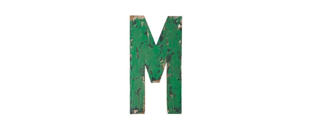 Lettre m d co factory miliboo - Lettre industrielle deco ...