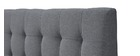 Lit 140x200 capitonné en tissu gris et bois SOREN