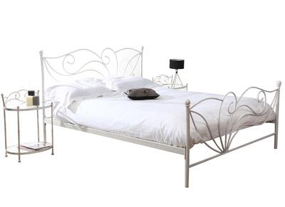 Lit 160x200 baroque blanc VENEZIA
