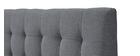 Lit 160x200 design capitonné en tissu gris et bois SOREN