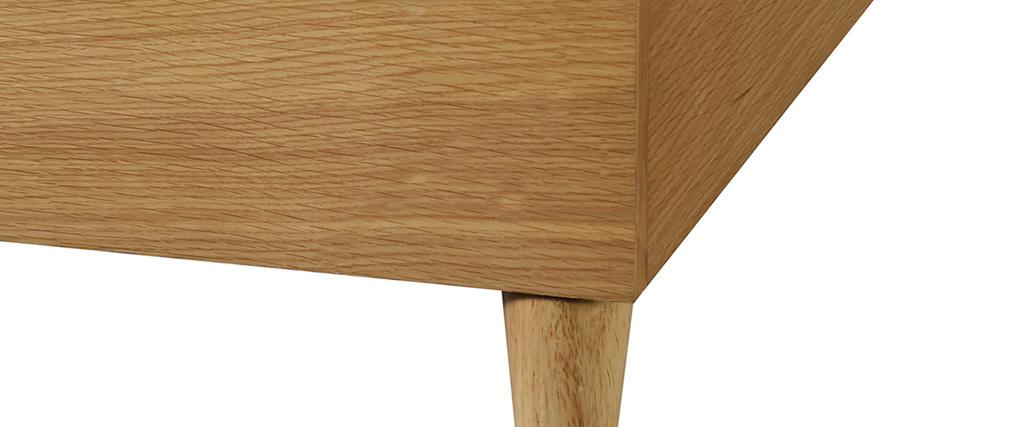 Lit adulte 160 x 200 cm avec sommier finition bois clair AYO