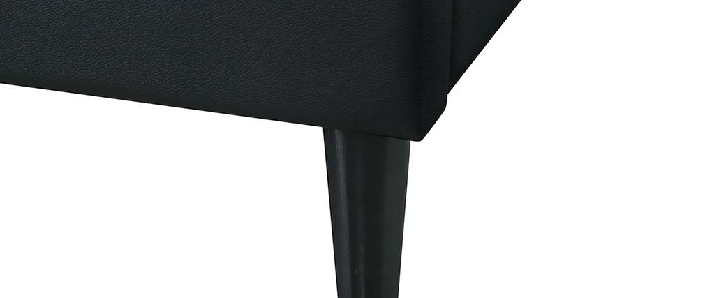 Lit adulte 160 x 200 cm avec sommier noir AYO