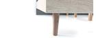 Lit adulte 160x200 scandinave chêne blanchi et gris mat NARVIK