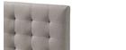 Lit adulte scandinave bois et tissu beige 160x200 cm LYNN