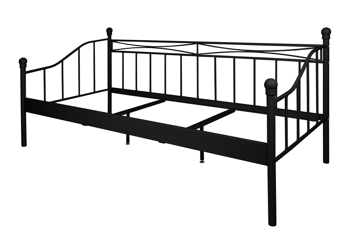 lit banquette metal with lit banquette noir. Black Bedroom Furniture Sets. Home Design Ideas