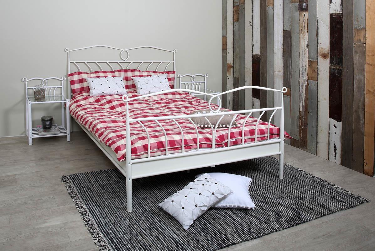 lit metal blanc. Black Bedroom Furniture Sets. Home Design Ideas