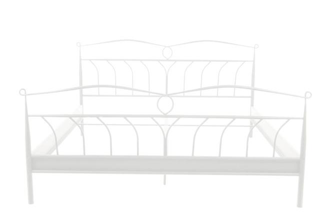 lit baroque 140x200cm en m tal blanc elisa miliboo. Black Bedroom Furniture Sets. Home Design Ideas