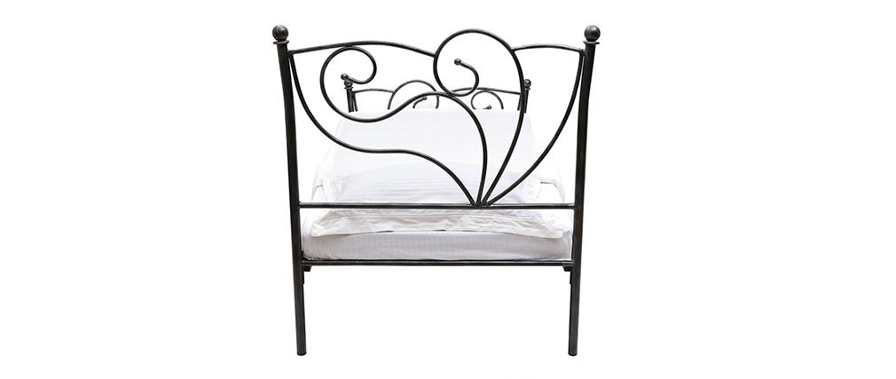 Lit baroque noir 90x190 VENEZIA