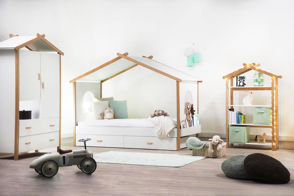 Lit Cabane Enfant Design 90x190 Birdy Miliboo