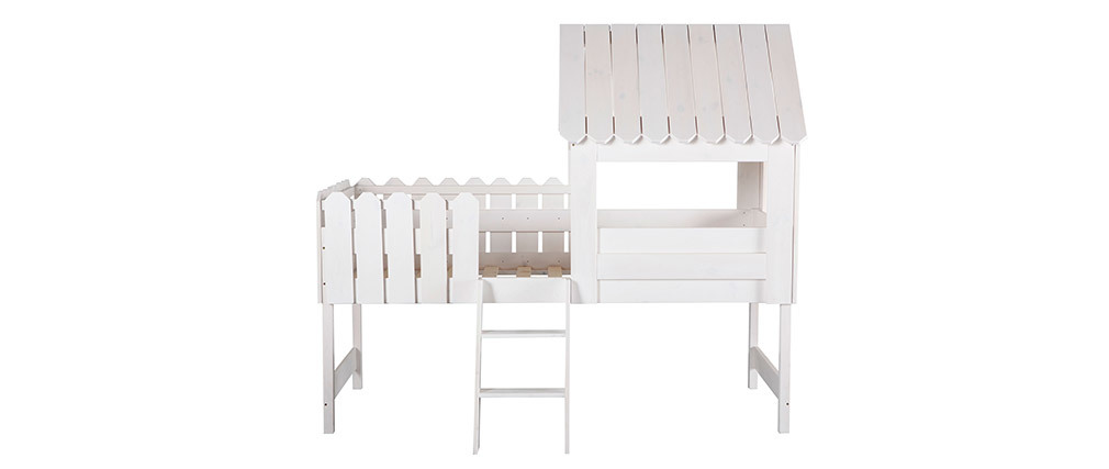 Lit cabane enfant en pin blanc LITTLE HOUSE