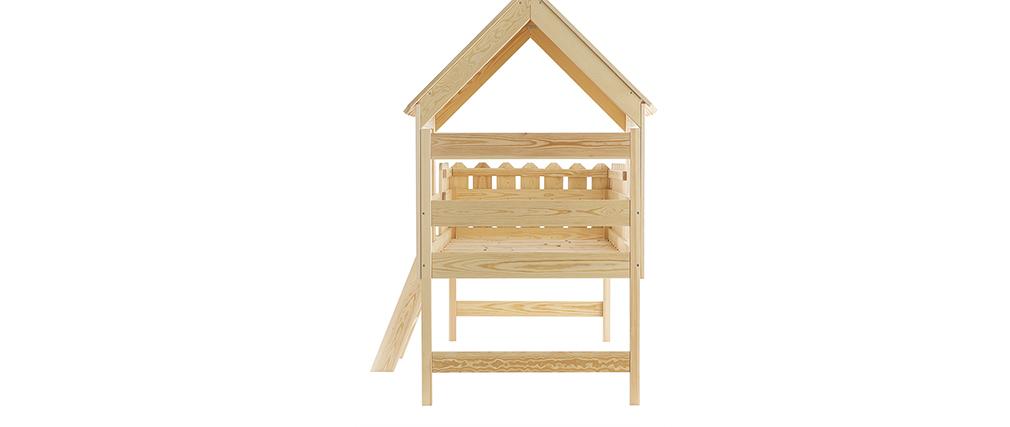 Lit cabane enfant en pin massif LITTLE HOUSE