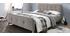 Lit capitonné tissu beige 160 x 200cm HOLSEN