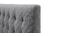 Lit capitonné tissu gris surpiqûres 140x190cm SOREN