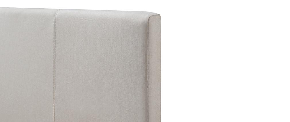 Lit coffre 140x200 cm en tissu beige APOLLON