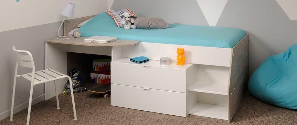 lit combin design enfant effy miliboo. Black Bedroom Furniture Sets. Home Design Ideas