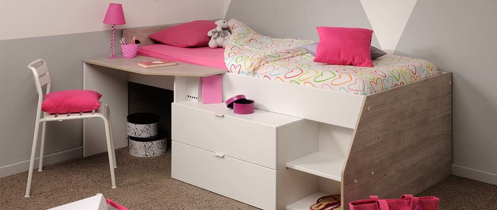 lit combin design enfant effy miliboo. Black Bedroom Furniture Sets. Home Design Ideas