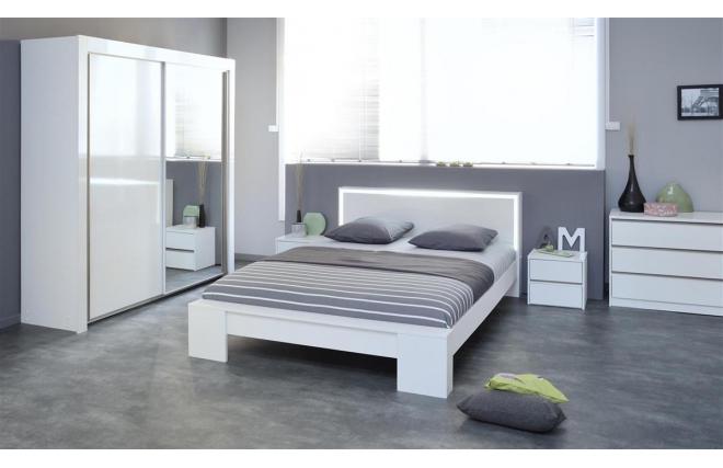 lit design 2 personnes 140 x 200 lumia miliboo. Black Bedroom Furniture Sets. Home Design Ideas