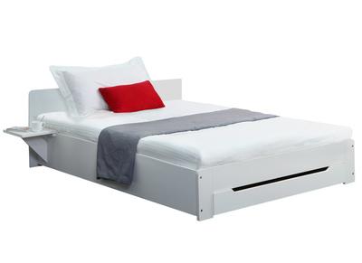Lit design blanc 1 personne 90x190 LORIS