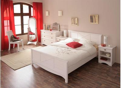 Lit design blanc 2 personnes 140 x 190 BAROK